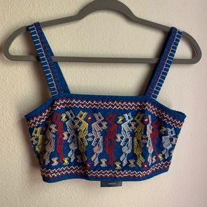 *NWT* Forever 21 Blue Woven crop top